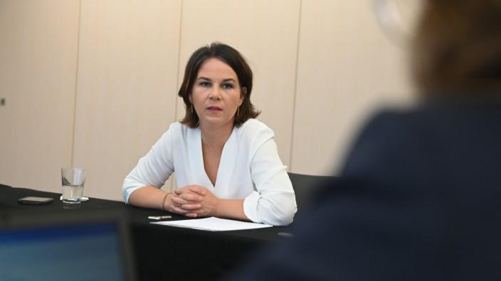 Annalena Baerbock.Kanzlerkandidatin Bündnis 90/ die Grünen.