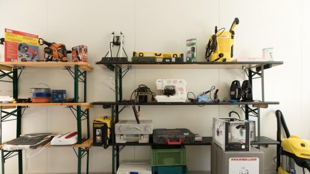 Werkzeugbibliothek des Erfindergartens
