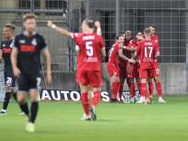 Muenchen, Deutschland 13. September 2021: 3.Liga - 2021/2022 - Tuerkguecue Muenchen vs. MSV Duisburg Albion Vrenezi (Tü