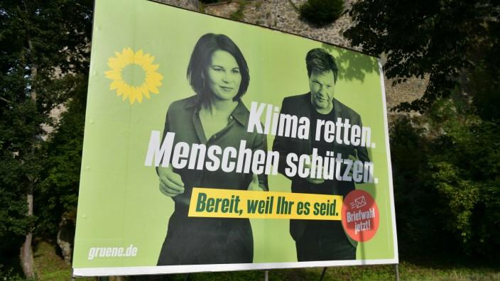 07.09.2021, xblx, Politik, Wahlplakat Bundestagswahl 26.09.2021, Wahlwerbung Die Grünen, Grüne, grüne Partei, BÜNDNIS 9