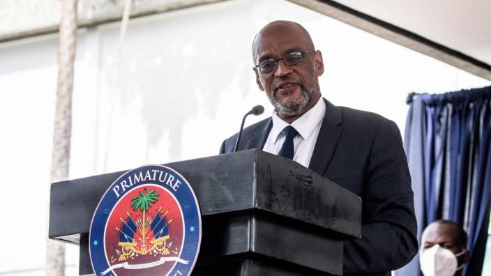 Staatskrise in Haiti: Angeklagt wegen mutmaßlicher Verwicklung in den Mord am Präsidenten: Haitis Premierminister Ariel Henry.