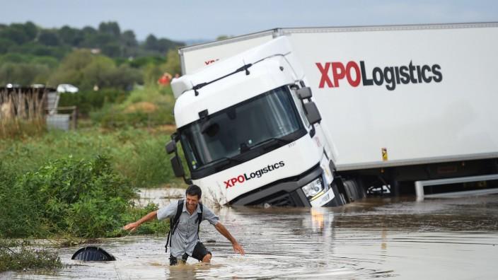Südfrankreich: Besonders schwer betroffen von dem Unwetter war das Département Gard.