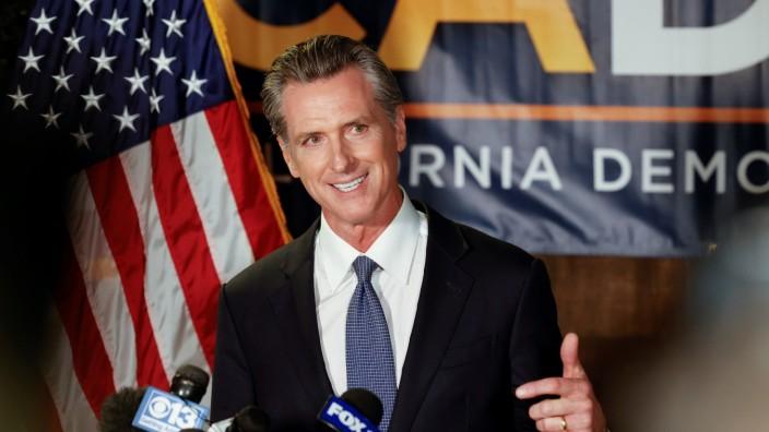 Wahl in Kalifornien 2021: Gouverneur Gavin Newsom
