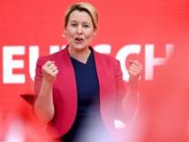SPD-Spitzenkandidatin Giffey - Abgeordnetenhauswahl Berlin