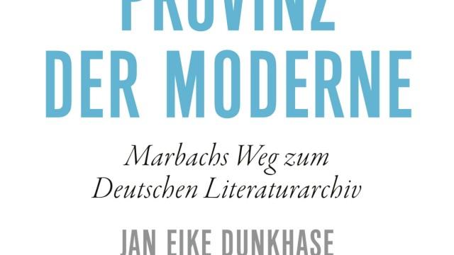 Literaturarchiv Marbach: Jan Eike Dunkhase: Provinz der Moderne. Marbachs Weg zum Deutschen Literaturarchiv. Klett-Cotta verlag, Stuttgart 2021. 430 Seiten, zahlreiche Abb., 35 Euro.