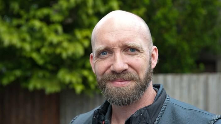 Aktionstag in Zorneding: Umweltaktivist Falk Skeide.