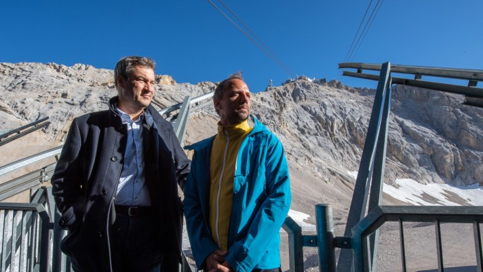 Söder auf Klimatour in der Zugspitzregion