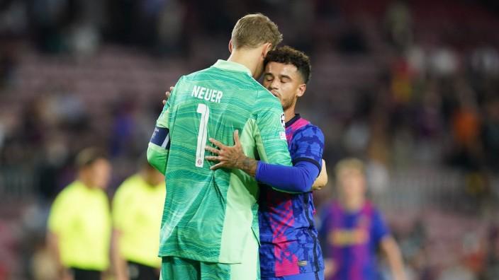 ESP: FC Barcelona, Barca Bayern Munich. UEFA Champions League. Manuel Neuer of FC Bayern Munich and Philippe Coutinho of