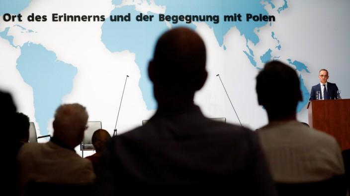 Heiko Maas bei der Vorstellung des Konzepts für einen Erinnerungsort an Naziverbrechen in Polen am Mittwoch in Berlin.
