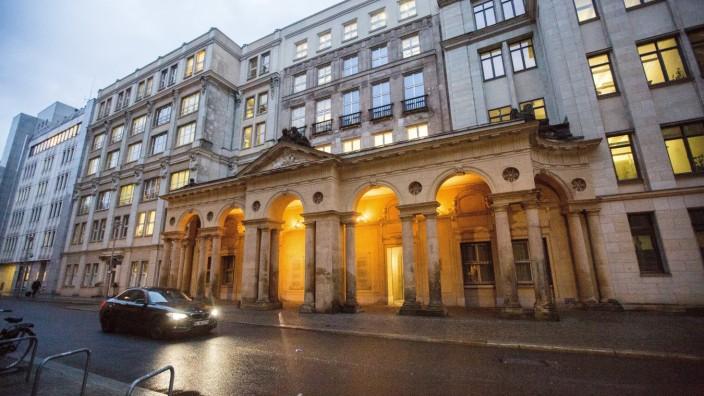 Schauplatz der Verärgerung: Das Bundesjustizministerium in Berlin wurde zur gleichen Zeit besucht wie das Bundesfinanzministerium.