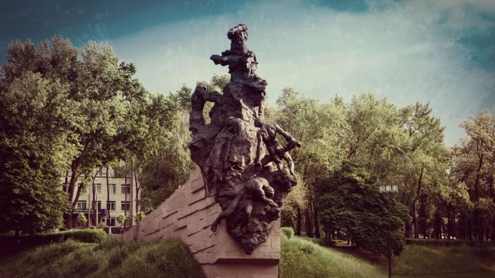 Deutsche Kriegsverbrechen: Denkmal in Kiew für die Opfer in Babij Jar.