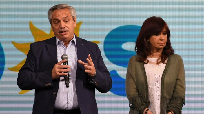 Über Kreuz: Präsident Alberto Fernández und Vizepräsidentin Cristina Fernández de Kirchner.