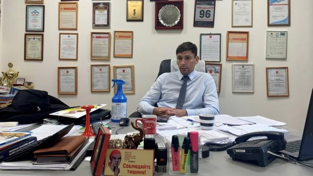 """Russland: """"An dieser Partei ist nichts Schlechtes"""": Der Petersburger Duma-Kandidat für Einiges Russland, Anton Solowjow."""