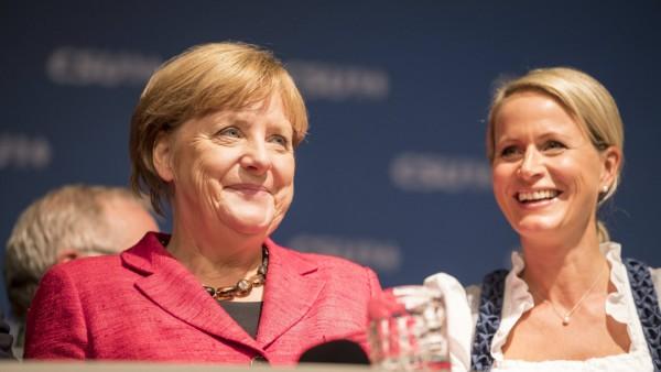 Angela Merkell Claudia von Brauchitsch Augsburg Germany 13 09 2017 Wahlkampfveranstaltung von An