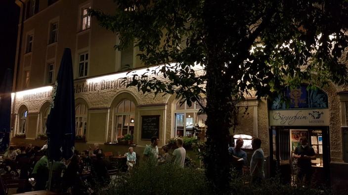 Schanigarten Schwanthalerhöhe Bürgerheim Gollierstraße Bergmannstraße