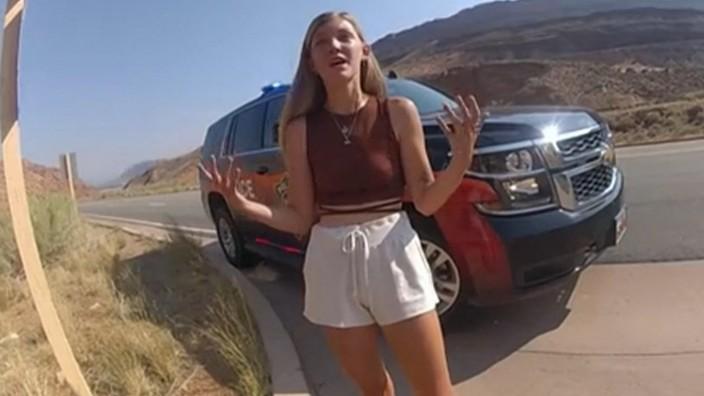 US-Kriminalfall: Gabby Petito bei dem Polizeieinsatz in Utah.