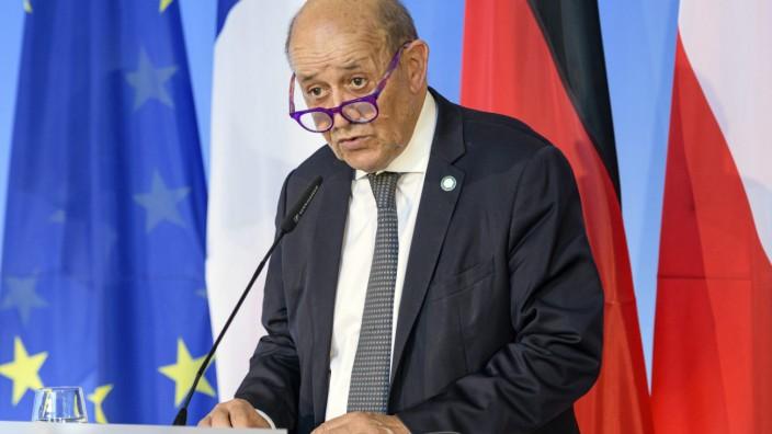 """Geplatzter U-Boot-Deal: """"Das wird nicht zwischen Verbündeten gemacht"""": Frankreichs Außenminister Jean-Yves Le Drian macht seinem Ärger Luft. (Archivbild"""