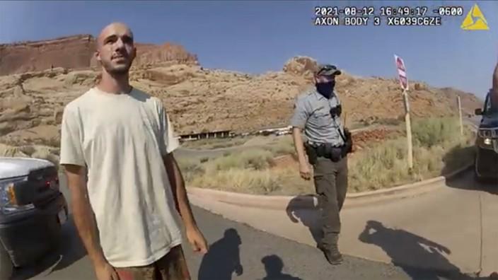 Vermisstenfall in den USA: Aufnahmen einer Bodycam: Brian L. bei einem Polizeieinsatz in Utah Mitte August.