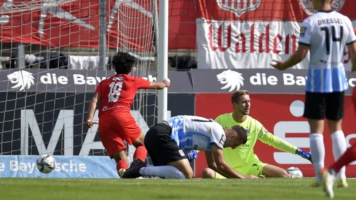18.09.2021, Fussball 3. Liga 2021/2022, 9.Spieltag, TSV 1860 München - FSV Zwickau, im Grünwalder-Stadion München, Joha