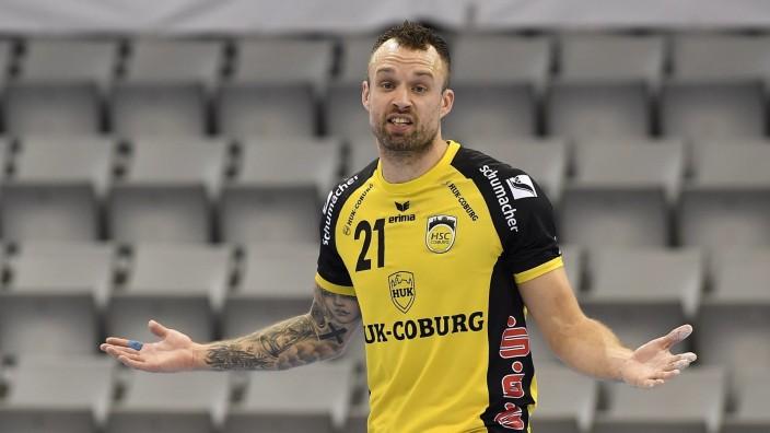 18.02.2021 - Handball - 1. Bundesliga LIQUI MOLY HBL - Saison 2020 2021 - 19. Spieltag: HSC 2000 Coburg - HC Erlangen Me; Handball HSC Coburg