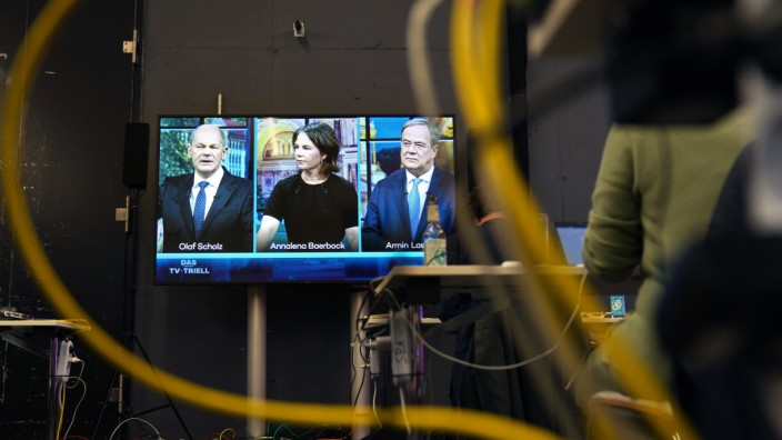 Bundestagswahlkampf - Drittes TV-Triell