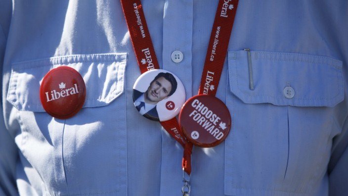 Wahl in Kanada 2021: Ein Anhänger von Justin Trudeau