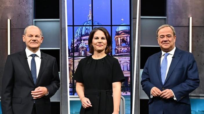 Triell: Triell auf ProSieben, in SAT.1 und bei Kabel Eins: Olaf Scholz; Annalena Baerbock; Armin Laschet