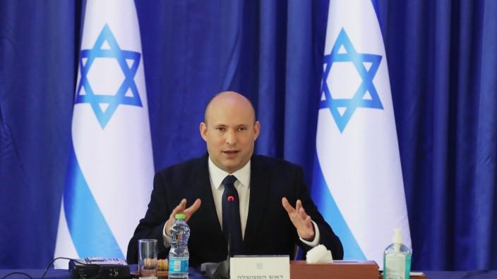 Israel: Premierminister Naftali Bennett während einer Sitzung