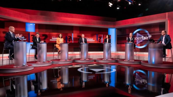 ARD/'hart aber fair' vom 20.09.21:  Endspurt im Wahlkampf: Wer macht die letzten Punkte?; Hart aber Fair, Plasberg