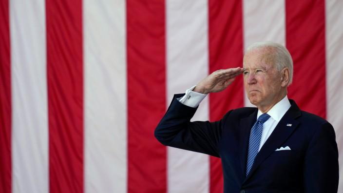US-Präsident Joe Biden am Memorial Day in den USA