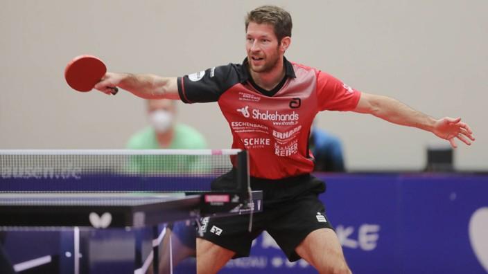 Bastian Steger (TSV Bad Königshofen) , TTC Grenzau - Bad Königshofen, Tischtennis, 1. Bundesliga, 5.2.2021, TTC Grenzau; bastian steger bad königshofen
