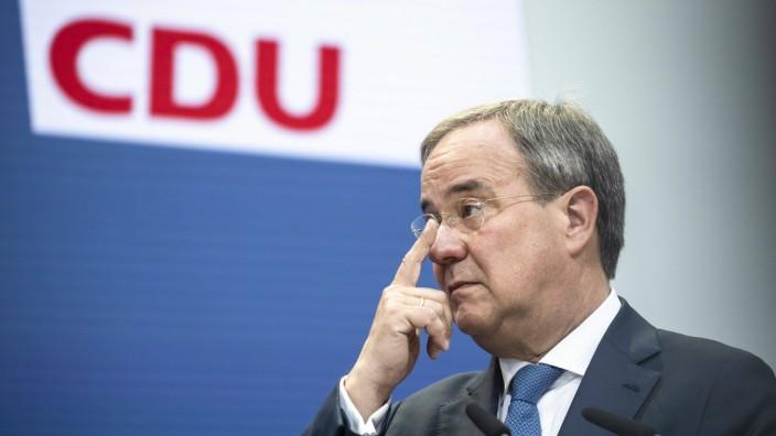CDU-Kanzlerkandidat Armin Laschet während einer Pressekonferenz