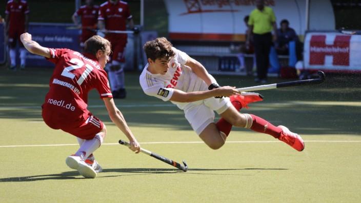Feldhockey, 1. BL, Rot-Weiß Köln - Nürnberger HTC  RW Köln - Nürnberger HTC Hockey Bundesliga Herren 2021 2022 Olympiawe