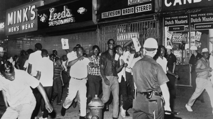 New York New York 1964 The fatal shooting of Harlem resident James Powell by NYPD Lieutenant Gilli