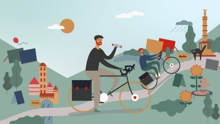 Fahrradreise: Illustration: Jessy Asmus