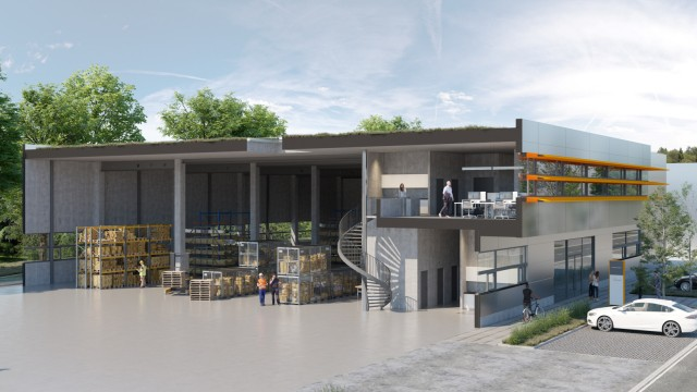Aubing: Das Unternehmerdorf soll aus einem Gebäudemix aus Büros und Hallen bestehen. Simulation: aurelis Real Estate