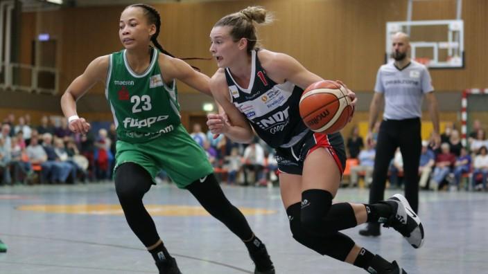 Goettingen, Deutschland, 12. Oktober 2019: 1. DBBL - Damen - 19/20 - flippo Baskets BG 74 vs. XCYDE Angels Noerdlingen v; Angels Nördlingen Basketball
