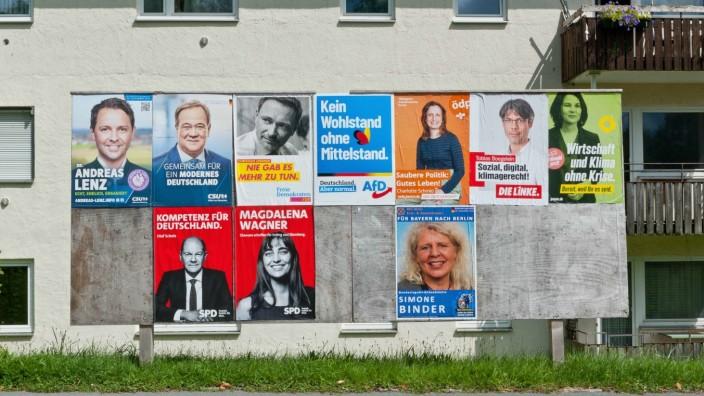 Bundestagswahl: Wahlplakate in Grafing-Bahnhof (Symbolfoto).