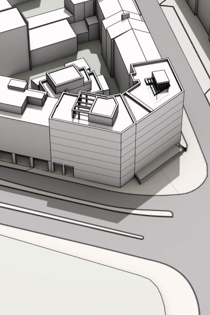 Haidhausen: Ein Computermodell zeigt das bisher geplante Bauvolumen. Simulation: Hilmer Sattler Architekten Ahlers Albrecht