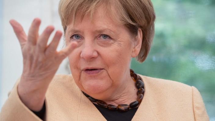Bundeskanzlerin Angela Merkel im Wahlkreis