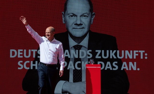 Wahlkampf SPD - Scholz in München