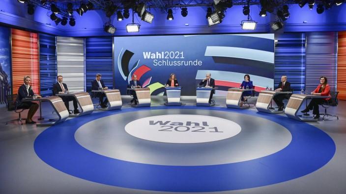 SZ am Morgen: Viele Schnellrunden und gehetzte Fragen: Die TV-Schlussrunde zur Bundestagswahl.