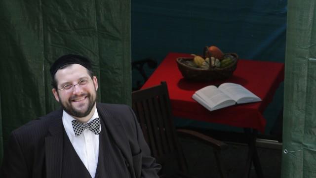 Eric Lehmann beim Laubhüttenfest, 2010