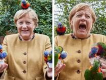 Leute: Merkel sagt beim Uhu Nein