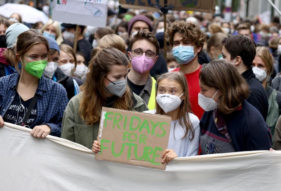 Fridays for Future: Greta Thunberg beim Klimastreik in Berlin 2021