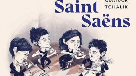 Fünf Favoriten der Woche: Die Geschwister Tschalik. Unklar ist, ob sie gerade das frühe oder das späte Saint-Saëns-Quartett spielen.