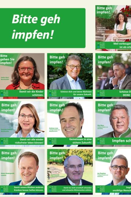 Corona im Landkreis Ebersberg: Politikerinnen und Politiker aus dem Landkreis Ebersberg haben sich zusammengetan, um die bisher unterdurchschnittliche Impfquote doch noch nach oben zu treiben.