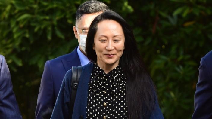 Meng Wanzhou: Die Huawei-Managerin Meng Wanzhou in Vancouver. Dort wurde sie 2018 festgesetzt.