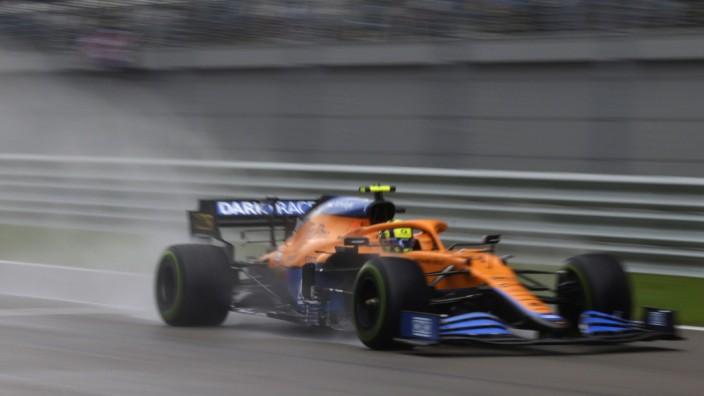 Formula 1 2021: Russian GP SOCHI AUTODROM, RUSSIAN FEDERATION - SEPTEMBER 25: Lando Norris, McLaren MCL35M during the R