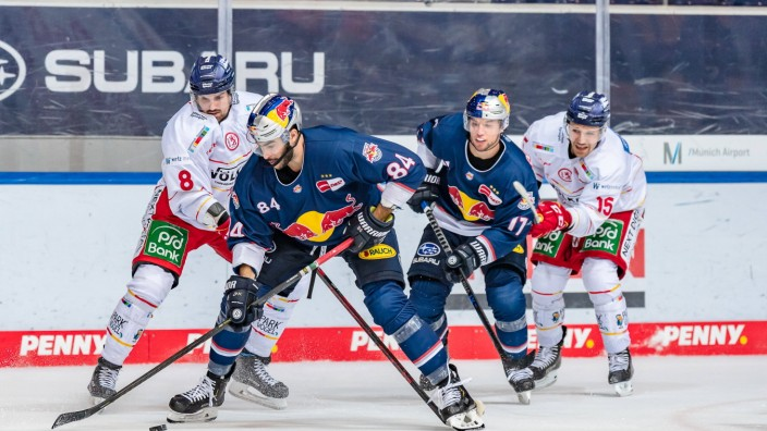 Marco Nowak (Duesseldorfer EG, 8), Trevor Parkes (EHC Red Bull Muenchen, 84), Frederik Tiffels (EHC Red Bull Muenchen,